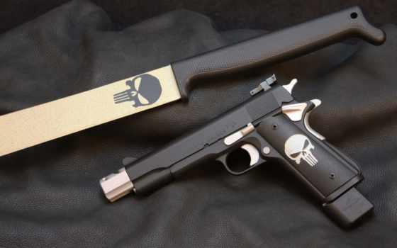 machete, pistol, оружие, punisher, пистолет, лошадь,, custom,