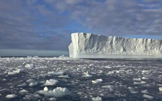 iceberg, море, лед