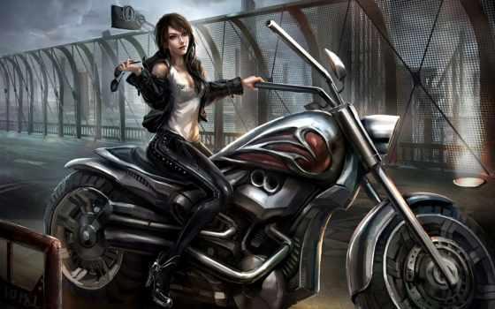 девушка, devushki, art, латекс, мотоцикл, мотоциклы, мото, мост, очки, bike,