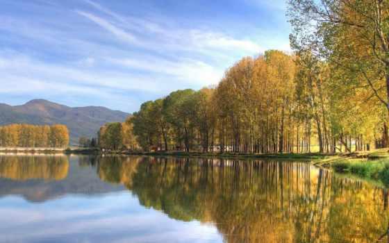 озеро, успокаивающие, телефон, красивые, голубое,