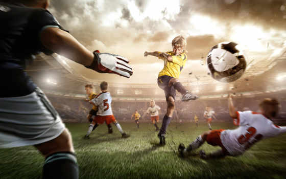 футбол, спорт, детишки, mix, wall, fußball, size,