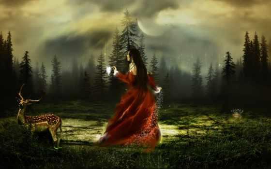 лес, магия, сказочный
