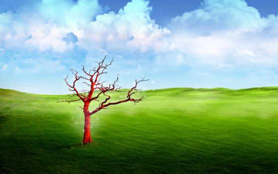 fantasy, landscape, дерево