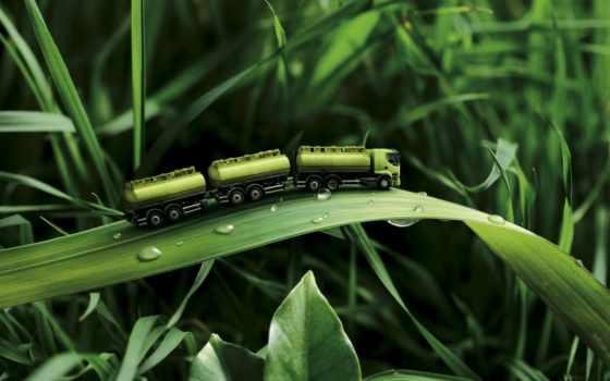 зелёный, трава, save, машина, trees, сайте, широкоформатные, поле,