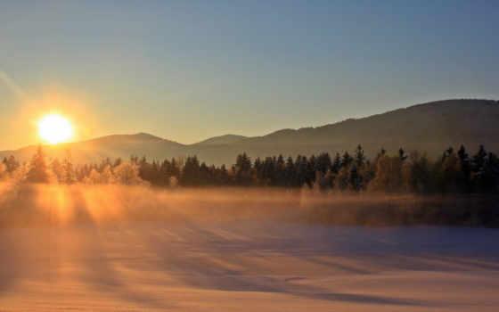 снег, winter, природа, пасть, mist, landscapes, nebel, осень, лес,