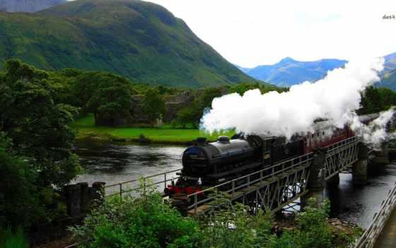 hogwarts, express, река, горы, поезд, gary,
