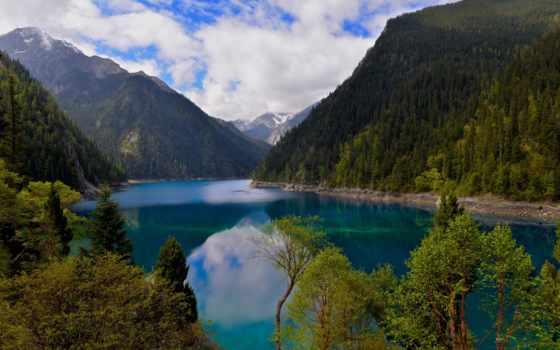 china, scenery, озеро, mountains, природа, стена, jiuzhaigou, natural, park,