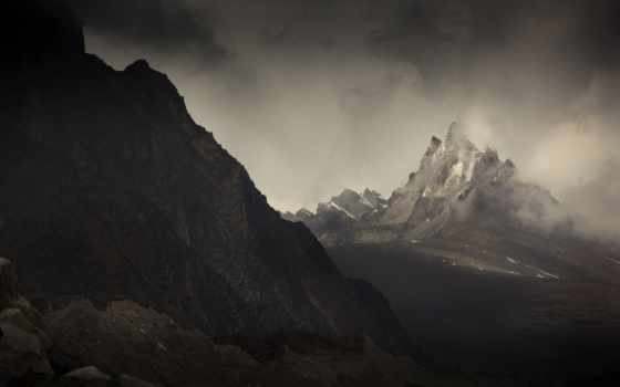 misty, mountains, гора, you, are,