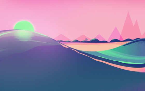 ,, небо, зеленый, розовый, пурпур, свет, атмосфера, computer wallpaper, дневной, линия, графика,