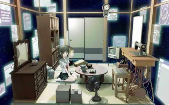 room, anime