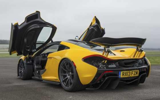 mclaren, yellow, суперкар