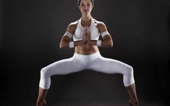 спорт, девушка, йога