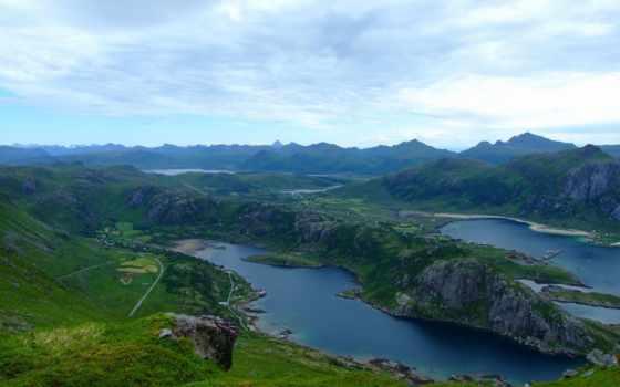 lofoten, full, unbelievable, река, free, desktop,