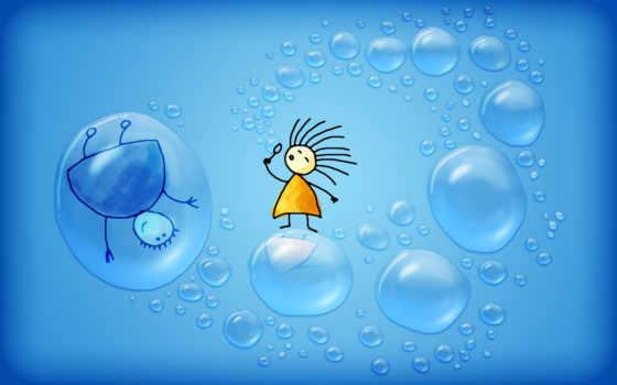пузыри, мыльные, разное, минимализм, аватар, fly, человечки, мыльными, пузырями, девушка,