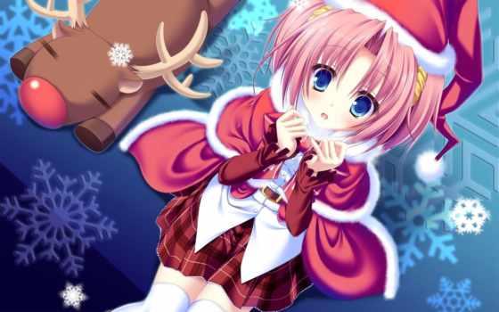 anime, новогодние, new