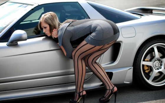 women, cars