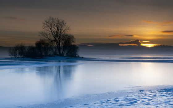 озеро, закат Фон № 32236 разрешение 1920x1080
