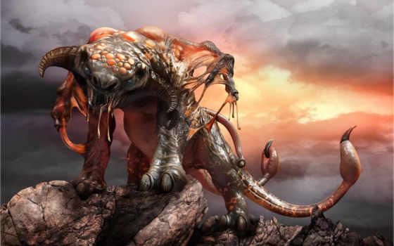 левиафан, чудовище, фэнтези, морское,