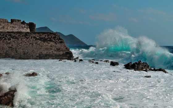 waves, скалы, море, пенка, разруха, бьются, rugged, landscape, fondos, пляж,