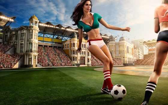 футбол, чемпионат, девушка, миро, календарь, soccer