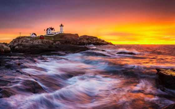 lighthouse, море, landscape Фон № 148626 разрешение 1920x1200