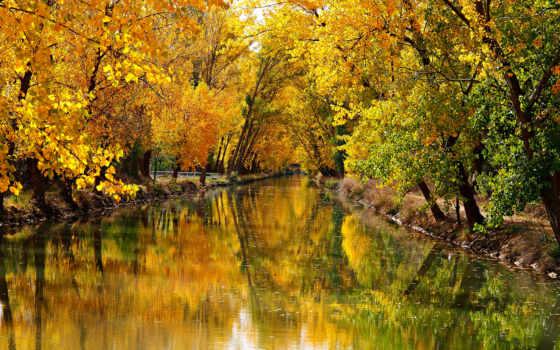 пейзажи -, озеро, belmont, park, babylon, new, york, качественные, state,