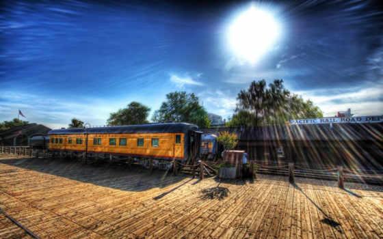 поезд, car, depot, desktop, free,