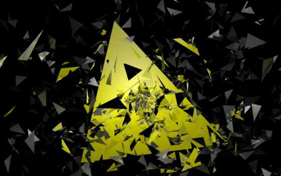 треугольник, yellow, креатив, black, design, geometric, пирамида, геометрия, материал, strips, shape