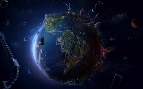 earth, future, background