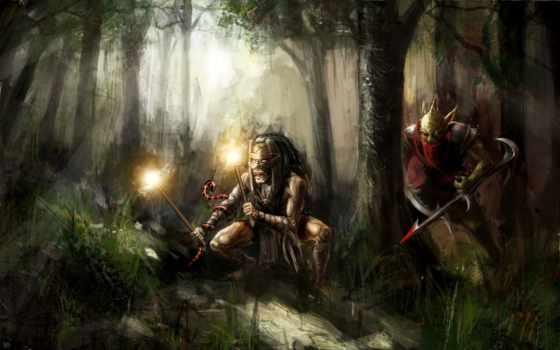 фэнтези, охотник, охотника