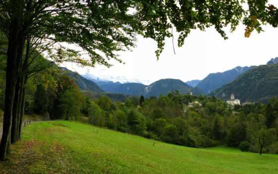 paisajes, bosques, hermosos, los, rboles, summer, naturales, del, fondos, italia,
