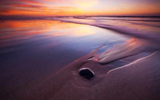 пляж, high, wide, definition, ocean, море, закат, uxga, fullscreen, sxga,