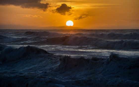 море, sun, садится, бурное, tumblr,