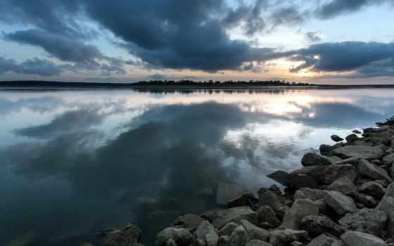 ночь, озеро, озер