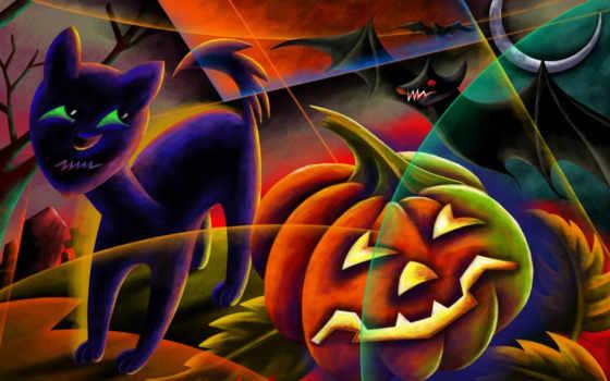 halloween, happy, scary, тыква, лампа, black, desktop, джека,