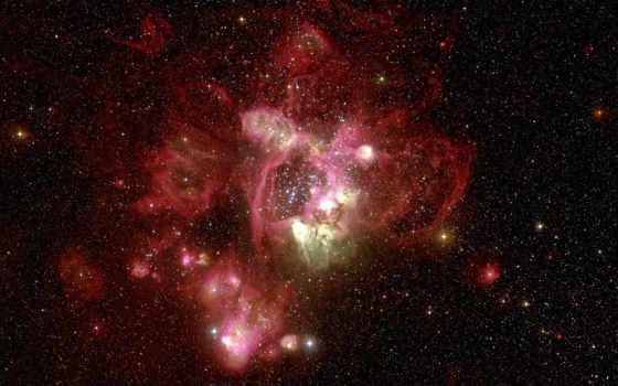 space, хаббл, large, туманность, magellanic, красная, cloud, телескоп, stars, outer, nebulae, hubble, eso,