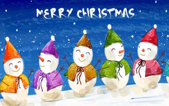 christmas, снеговики