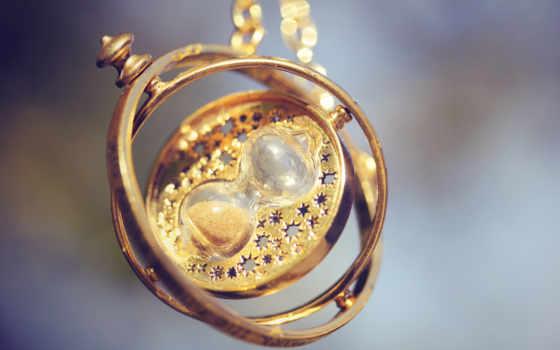 reloj, arena, colgante