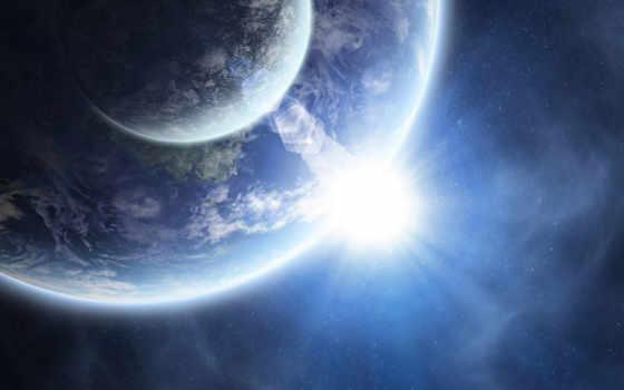 cosmos, planet, красивые, космоса, land, луна,
