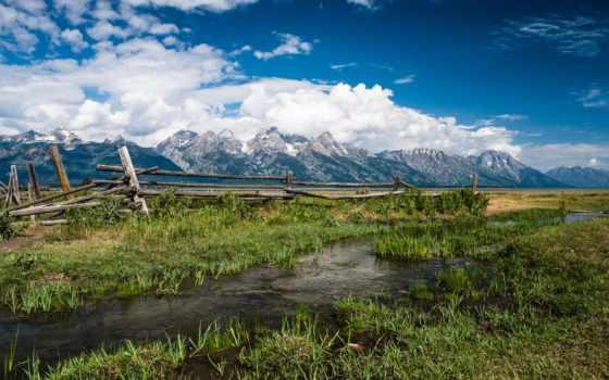 трава, landscapes, поля, trees, природа, поле, clouds, небо,