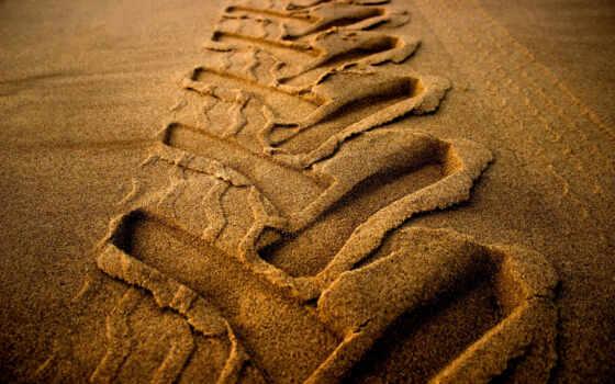 песок, море, площадь, след, пляж, трактор, free, шиномонтаж, footprint, волна