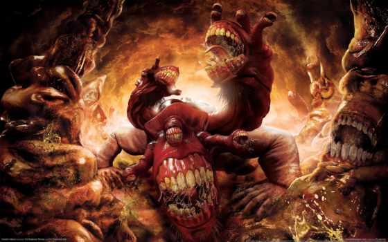 game, games, игры, видео, dante, монстр, компьютерные, ад, inferno, обжорство, dantes,