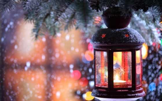 winter, снежинки, свеча