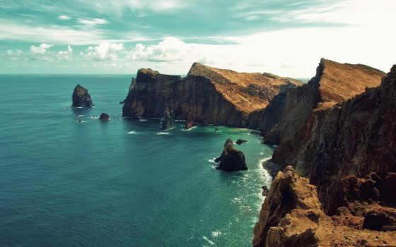 море, скалы, landscape