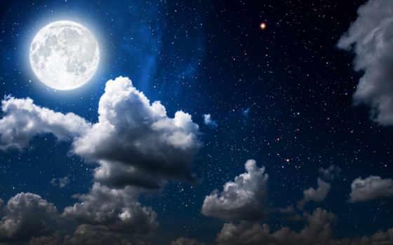 звезды, луна, ночь, description, добавляем, высоком, картинкам, goodfon, теме, свет, космоса,
