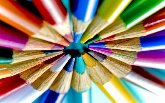 карандаши, цветные, brittle, множество, макро, drawing,