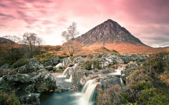 гора, страница, buachaille, мест, etive, природы, горы, landscapes, долина, glencoe,