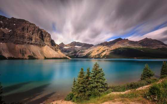 landscape, озеро, бант, desktop, восход, природа, widescreen,