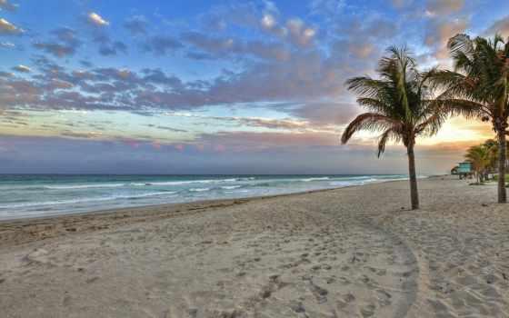 пляж, восход, утро, florida, keys, early,