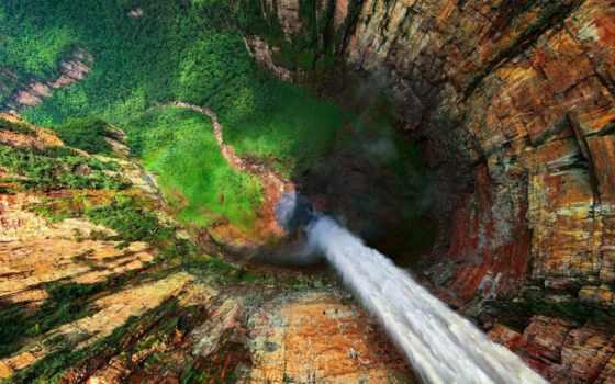 водопад, анхель, мире, high, находится, height,